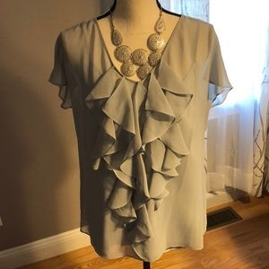 💢Gorgeous Sheer Talbots Blouse with Cami Sz 12💢